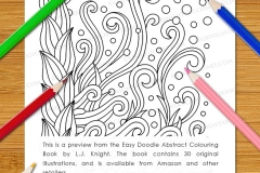 Easy Doodle Abstract Colouring Book - Preview