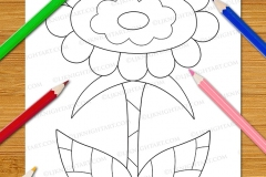 Easy Fun Flowers Colouring Book - Preview