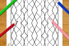 Easy Geometric Patterns Colouring Book (Volume 2) - Preview