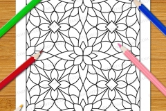 Easy Geometric Patterns Colouring Book (Vol. 1) - Preview