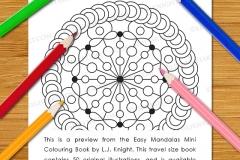 Easy Mandalas Mini Colouring Book - Preview