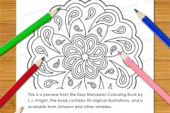 Easy Mandalas Colouring Book - Preview