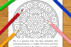 Easy Mandalas Mini Colouring Book - Preview
