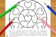 Extra Easy Fun  Mandalas Colouring Book - Preview