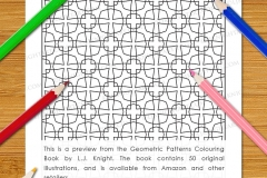 Geometric Patterns Colouring Book - Preview
