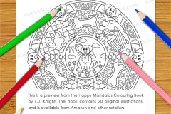 Happy Mandalas Colouring Book - Preview