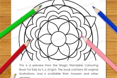 Magic Mandalas Colouring Book - Preview