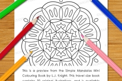 Simple Mandalas Mini Colouring Book - Preview
