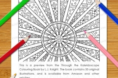 Through the Kaleidoscope Colouring Book - Preview