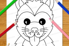 Very Easy Animal Faces Colouring Book - Preview