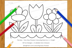Very Easy Flowers Colouring Book - Preview